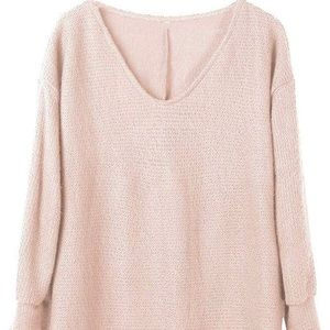 Pull over Oversized Knitted lite pink Sweater